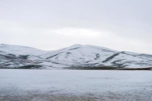 texture de neige, paysage de neige photo