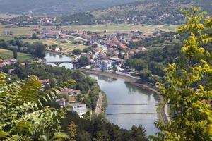paysage bleu et vert photo