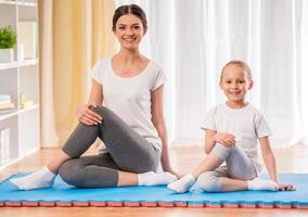 yoga à la maison photo