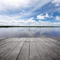 paysage avec lac photo