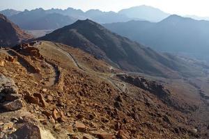 vue sur le paysage de moïse de montagne photo