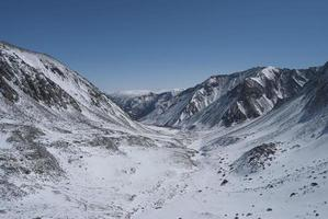 paysage d'hiver dans les montagnes photo