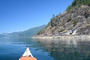 côte ensoleillée, kayak photo