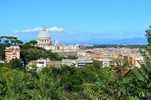 paysage de Rome et dôme