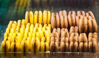 rangées de macarons photo