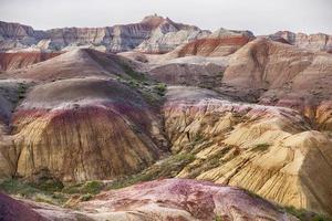 couleurs du paysage dans le parc national de badlands photo