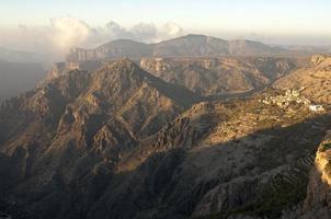 paysage de montagne du plateau de sayq photo