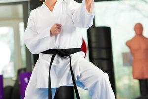 formation sportive d'arts martiaux dans le gymnase photo
