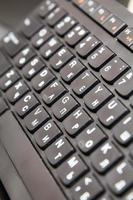 gros plan du clavier de l'ordinateur, macro photo