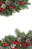 bordure d'hiver festive