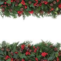 bordure florale d'hiver photo