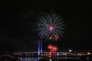 feux d'artifice d'hiver photo