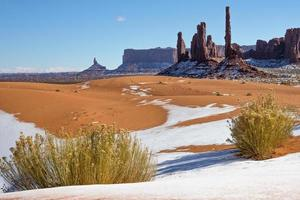 Monument Valley dunes d'hiver