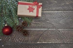 cadeau de Noël en saison d'hiver photo