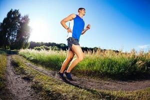 courir dans la campagne
