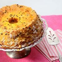 gâteau éponge en mousseline de soie banane