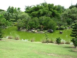 lago, jardin botanico, santo domingo. photo