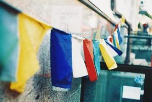 drapeau de prière photo