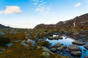 lac coucher de soleil automne