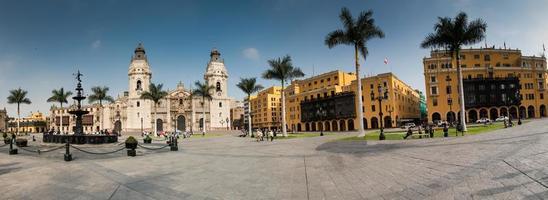 Palais archiépiscopal à Lima au Pérou