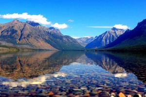 reflet du lac mcdonald photo