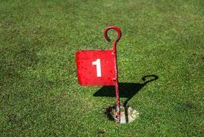 marqueur de coupe de golf photo