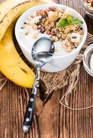 yaourt à la banane fait maison photo
