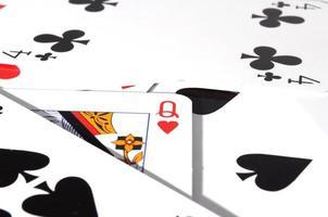 jeu de cartes de poker photo