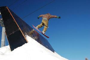 snowboarder quarter pipe 2 photo