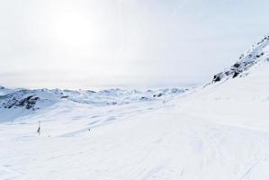 Pistes de ski dans la région de Paradiski, France photo