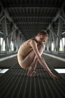 portrait de jeune et gracieuse ballerine photo