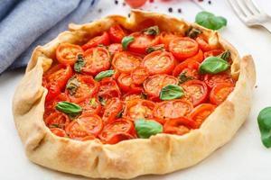 tarte aux tomates cerises photo