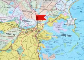 boston sur la carte photo
