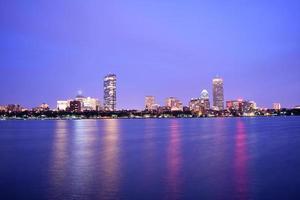 boston back bay après le coucher du soleil
