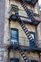 usa - new york - new york, façades de maisons