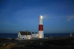 portland bill lighthouse at night photo