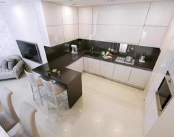 cuisine moderne blanc photo