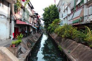 fossé de la ville de bangkok photo