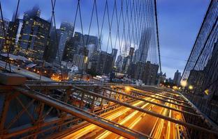 lumières de la ville de new york photo