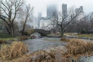 gapstow bridge central park, new york city photo