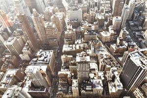 vue aérienne de la ville de new york