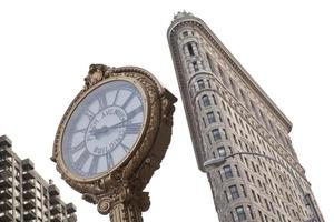horloge de la cinquième avenue et bâtiment flatiron photo