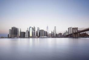 lever du soleil de new york city photo