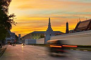 lever du soleil à bangkok photo