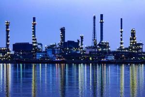Raffinerie de pétrole à Bangkok en Thaïlande.