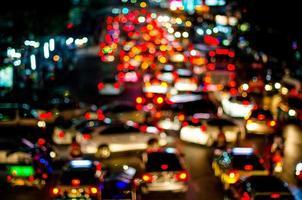 éclairage de trafic abstrait, floue photo