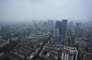 vue d'oiseau à chengdu en Chine. photo
