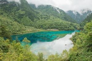 Parc national de la vallée de Jiuzhaigou, Chine.
