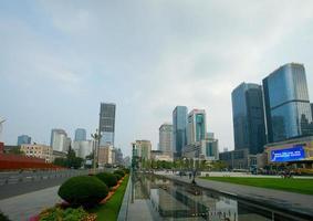 place tianfu, centre d'affaires à chengdu, chine.