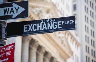 Wall Street St New York Stock Exchange photo